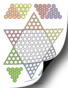 Chinese Checkers Printable Board Game